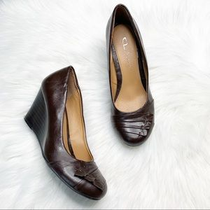 Chinese Laundry Wedge Heels Leather Pumps